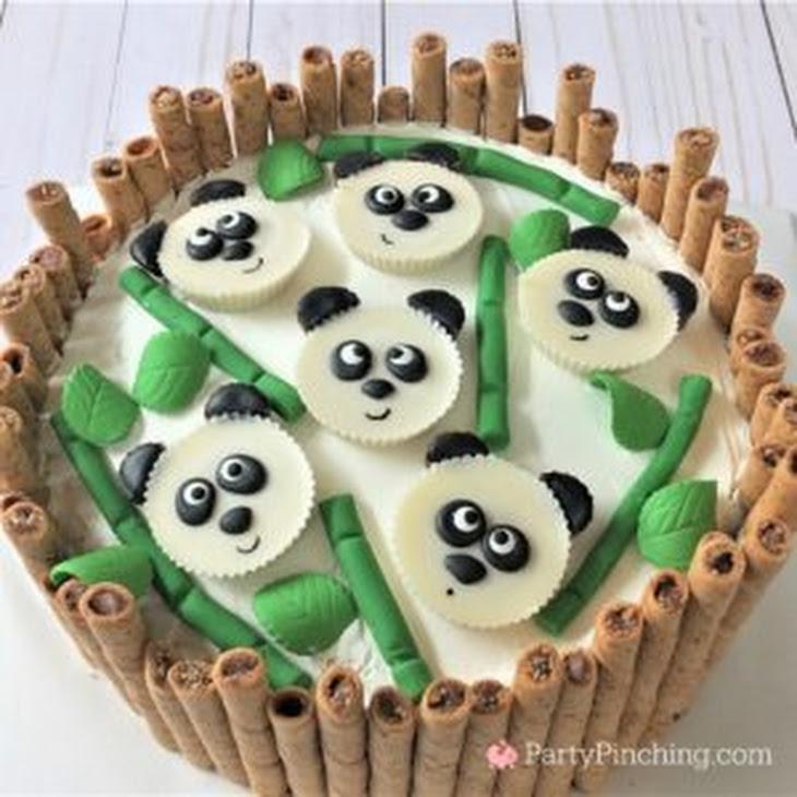 PANDA PEANUT BUTTER CUP CAKE Recipe