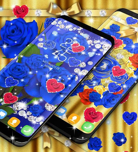 Blue golden rose live wallpaper 8.1.1 screenshots 8