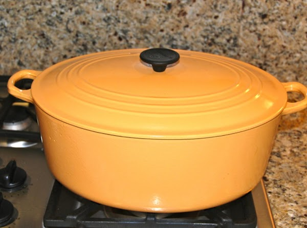 **NOTE: I use a large cast iron Le Creuset pot with a lid because...