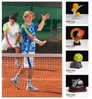 équipement de tennis erima, trophée,