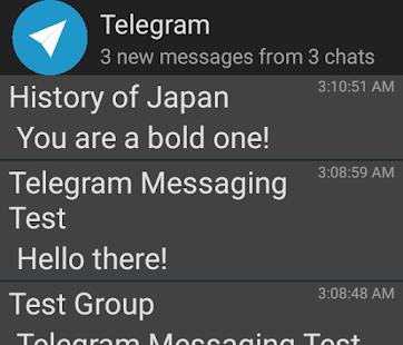 Widget de Telegrama no oficial