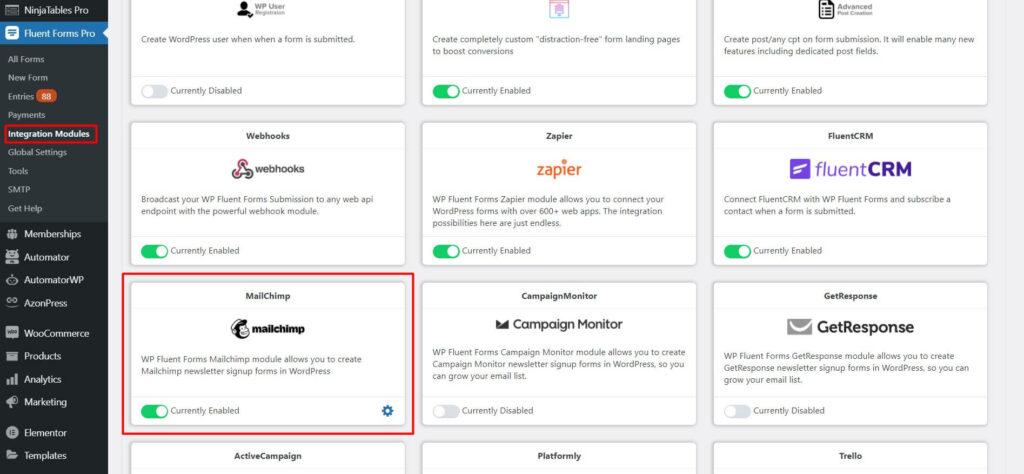 Mailchimp Integration Module - Fluent forms