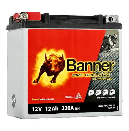 Banner Bike Bull AGM PRO ETX 14 12V 12Ah