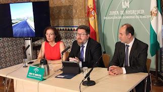 El consejero durante su comparecencia en Almería