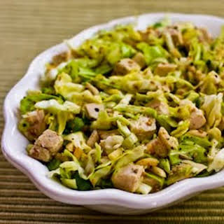 Sandee's Sensational Asian Salad with Chicken and Cabbage.