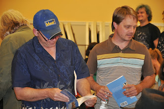 Photo: Christopher Jarmick takes a look at the new anthology, with Jared Leising.
