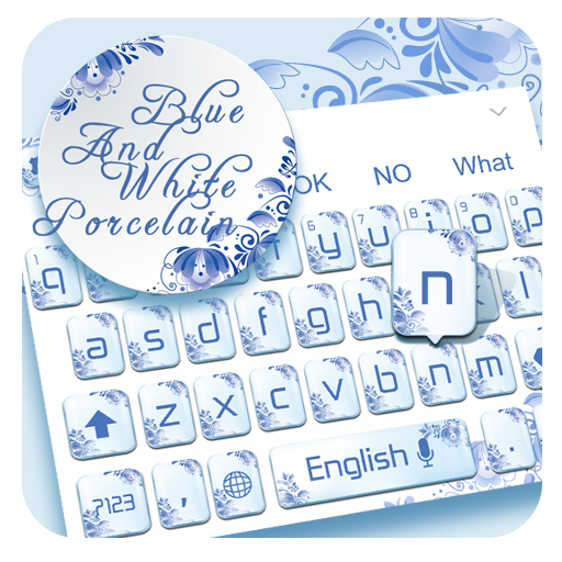 Blue and White Porcelain Keyboard