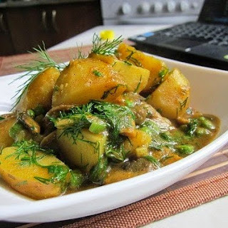 Curry With Mushrooms And Potatoes Casserole