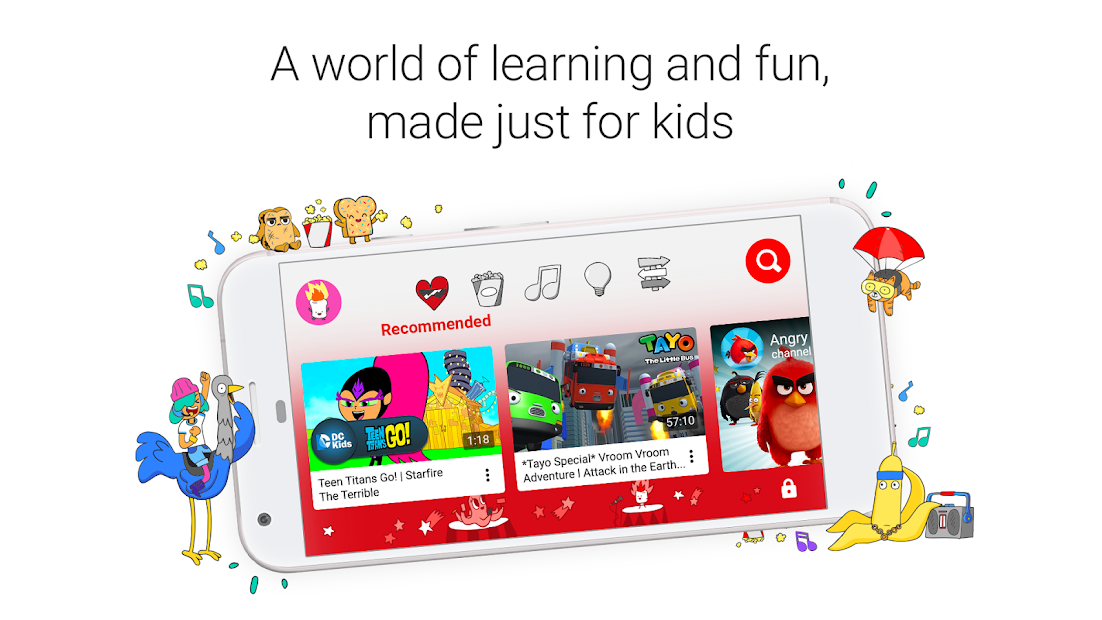 YouTube Kids Android App Screenshot