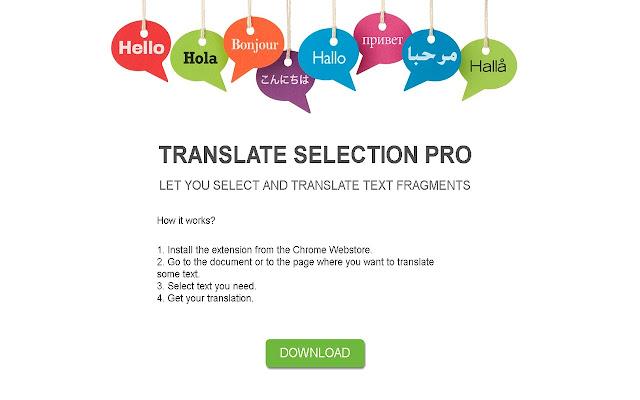 Translate selection