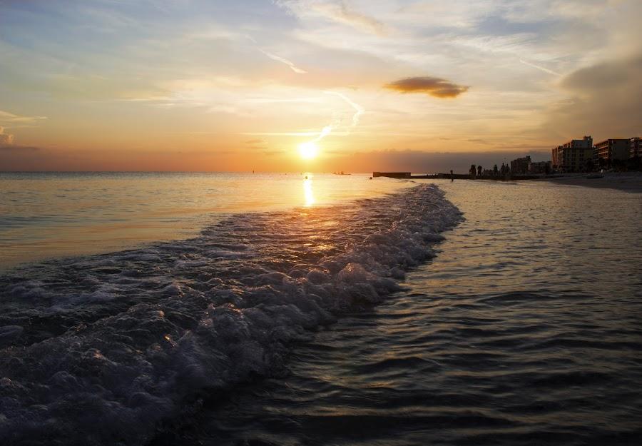 by Asya Atanasova - Landscapes Sunsets & Sunrises ( sky, sunset, wave, sea,  )