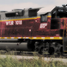Big Red by Sherry Dennis - Transportation Trains