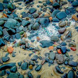 Seafoam 3 by Joseph Vittek - Artistic Objects Other Objects ( surf, rocks, beach, seafoam, oregon, bubbles, flow )