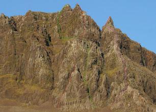 Photo: Vesturbrúnir Esju. Þetta eru fjórar klifurleiðir sem ég hef klifrað. Grænuleiðina hef ég aðeins farið í ís og snjó en hinar að sumri.