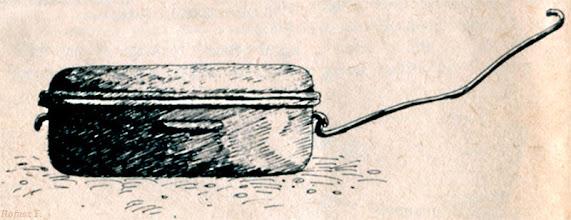 """Photo: Diskos - diszkosz, tok (Rofusz F. - ilustracja z książki Dobozi László """"Sütés főzés hegyen-völgyen vízparton"""") 1"""