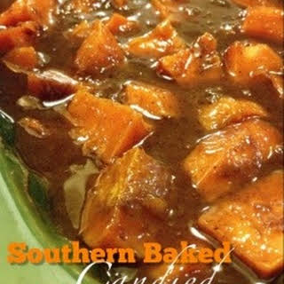 Southern Baked Candied Sweet Potatoes.
