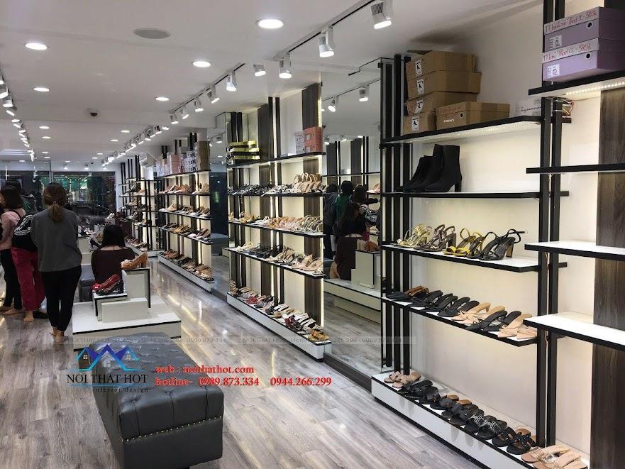 thiết kế thi công shop giày dép thời trang ha huyen 7