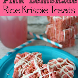Pink Lemonade Rice Krispie Treats