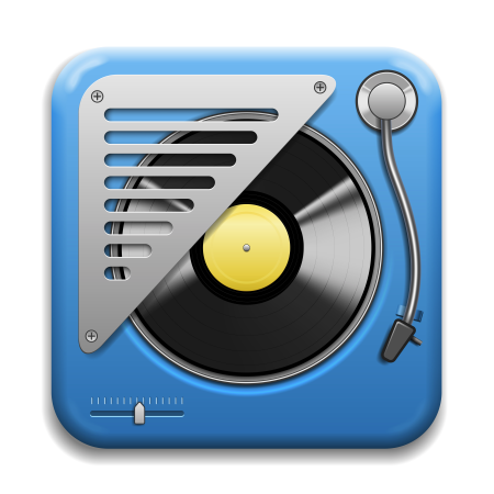 Turntable musical Vector Icon isolated on white background. Виниловая вертушка на белом