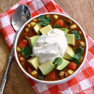 Three Pepper Vegetarian White Bean Chili