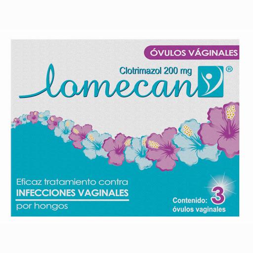 Lomecan Ovulos Vaginales Antimicotico Clotrimazol 3 Ovulos