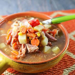 Crockpot Ham Bone Soup.