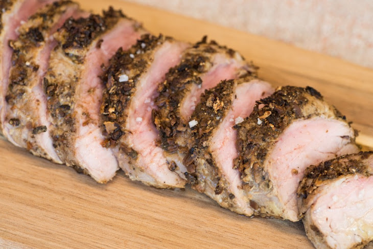 Porcini-Crusted Pork Tenderloin Recipe | Yummly