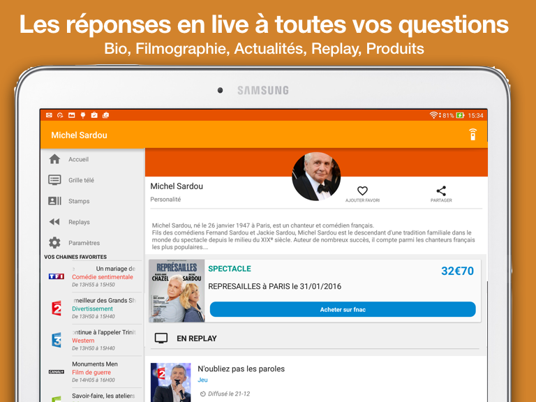 TiVipedia, la Télé Augmentée- screenshot