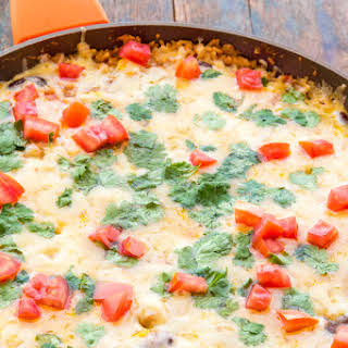 One Pot Mexican Chicken & Rice Casserole.
