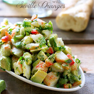 Avocado and Crab Salad with Seville Oranges.
