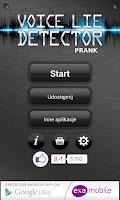 Screenshot of Voice Lie Detector Prank