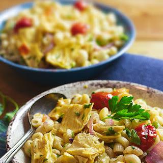 Macaroni Fricassee with Dried Bean Curd Skin Sticks (Tofu Skin or Yuba)   Vegan.