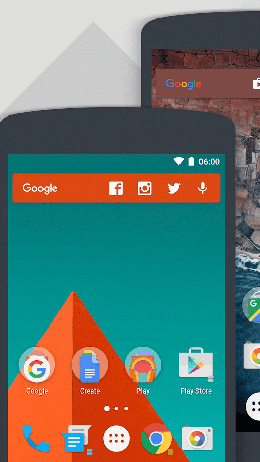 Action Launcher 3: captura de pantalla