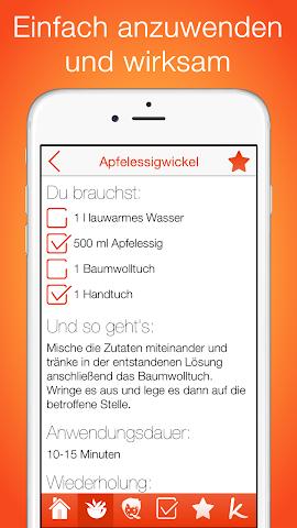android Natürliche Hausmittel Screenshot 1