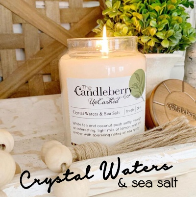 Crystal Waters & Sea Salt Sceneted Candle