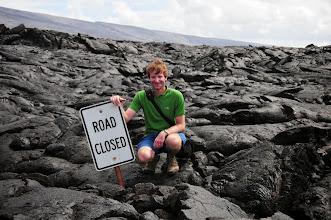 Photo: Me on a lava flow.