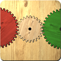 Gears logic puzzle icon