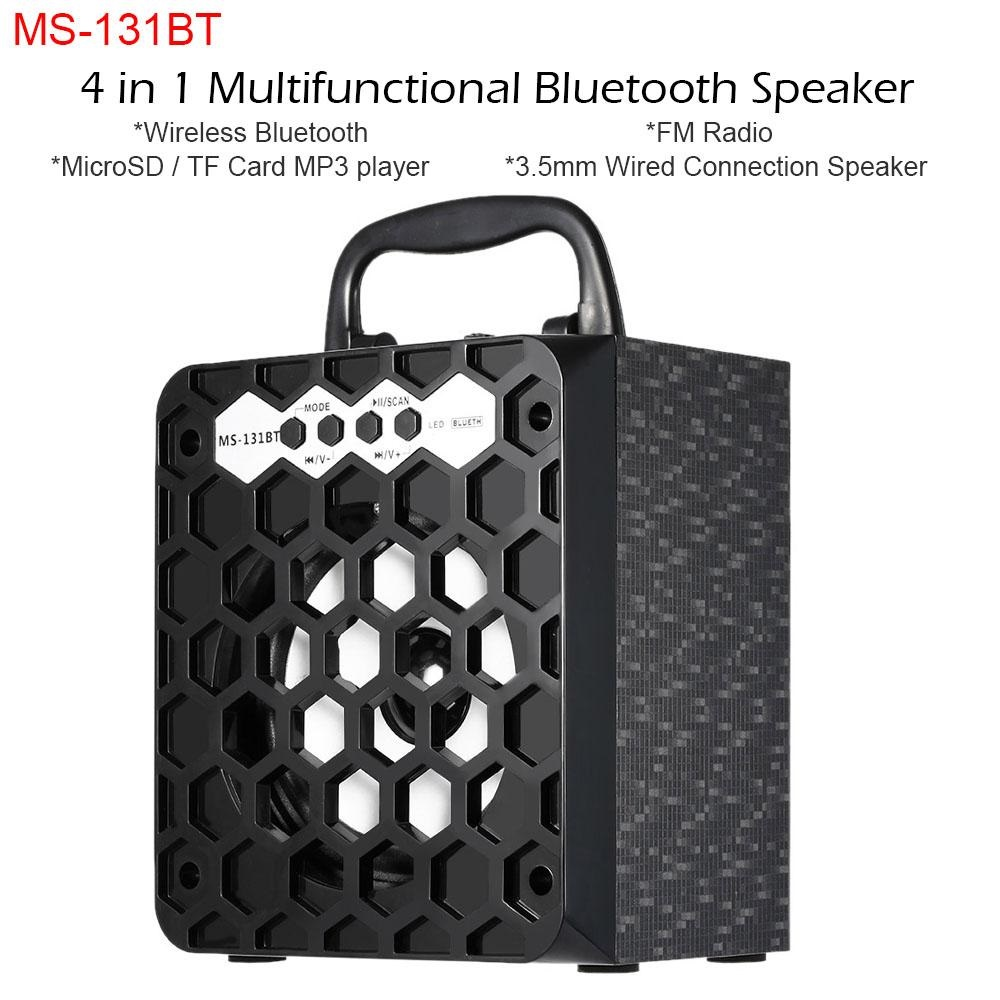 MS-131BT Multimédia Haut-parleur sans fil Bluetooth Radio FM Mobile Haut-parleur Mp3 Box Subwoofer USB 3.5mm Plug Support SD TF www.avalonkef.com 9.jpg