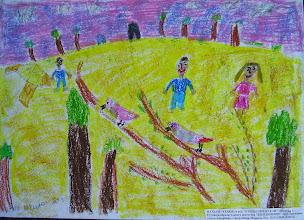 Photo: Сердюк Натали. 8 лет. Птицы прилетели. Студ. Натальи Ланге. Израиль. г. Беэр-Шева