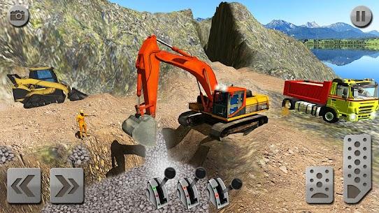 Sand Excavator Truck Driving Rescue Simulator game 3
