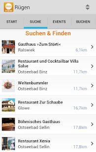 Rügen-App- screenshot thumbnail