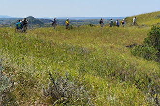 Photo: Ridgeline Trail: We explored the badlands environment along a nature trail with moderate to steep grades.