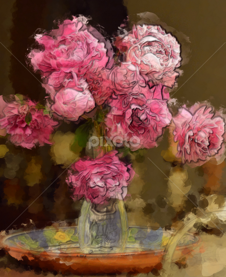 Peonies by Jax Welborn - Abstract Light Painting