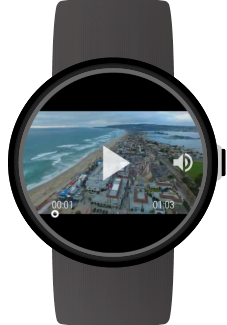 Video Gallery for Wear OS (Android Wear) screenshots