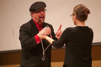 Photo: Professor Wooden volunteers to be amazed. . . .