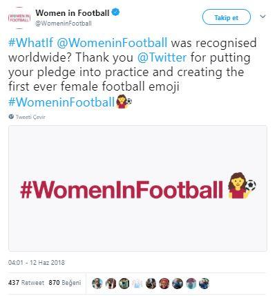 Twitter'dan futbolcu kadınlara yepyeni bir emoji