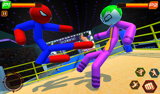 Stickman Wrestling: Stickman Fighting Game android2mod screenshots 10