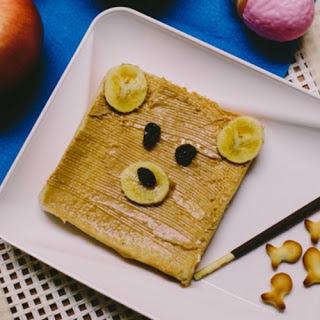 TEDDY BEAR TOAST   EASIEST KID'S BREAKFAST Recipe