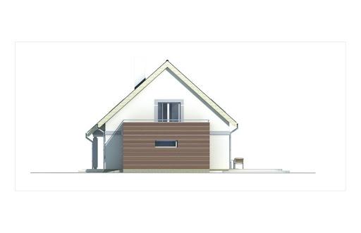 Ada wersja B bez garażu - Elewacja prawa