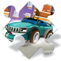 Cartoon Cars Puzzle for Kids icon